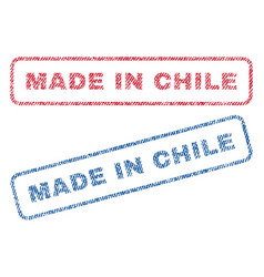 Made in chile textile stamps vector