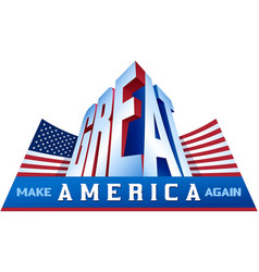 make america great again stars and stripes flag vector image vector image