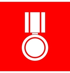 Medal sign vector image