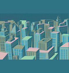 Night modern city panorama vector