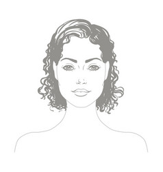 Portrait of the attractive girl vector