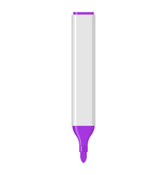 Purple marker isolated office stationery school vector