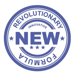 Revolutionary new formula - rubber stamp vector