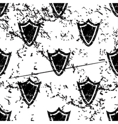 Shield pattern grunge monochrome vector