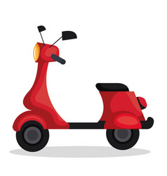Skooter motorcycle isolated icon vector