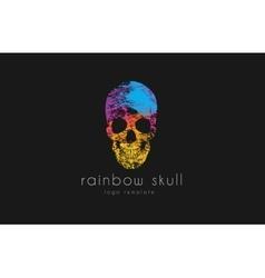 Skull rainbow skull skull logo colorful logo vector