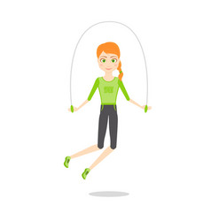 sportswoman character cartoon flat vector image
