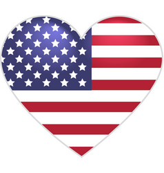 Symbol US flag heart shape vector image