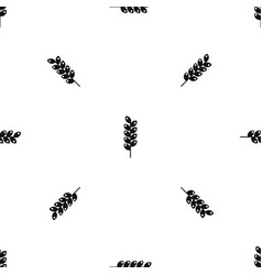 Tight spike pattern seamless black vector