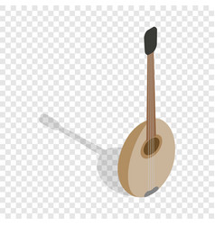 traditional turkish music instrument isometric vector image