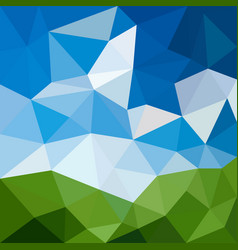Triangular abstract background landscape vector