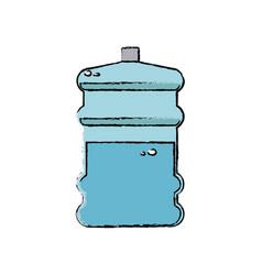 Water bottle big plastic dispenser vector