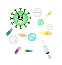 Bacteria and viruses are treated with pills and vector