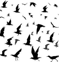 Birds silhouettes seamless vector image