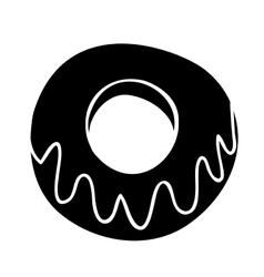 Glazed donut icon image vector