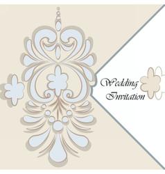 Classic luxury invitation card vector
