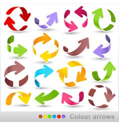Colour arrows vector