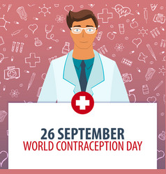 26 september world contraception day medical vector