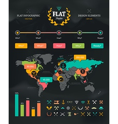 Flat infographic set 1 vector