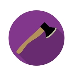 Axe icon with long shadow vector