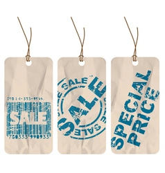 Tags for sale vector