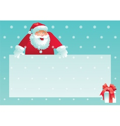 Santa claus and gift box with christmas letter vector