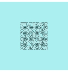 Labyrinth puzzle rebus icon vector
