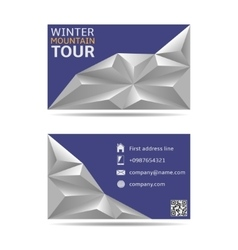 Winter tour banners vector
