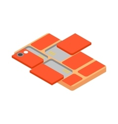 Modular smartphone icon isometric 3d style vector