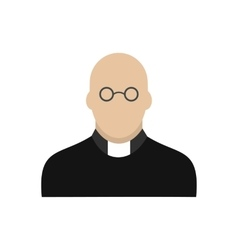 Priest icon flat vector