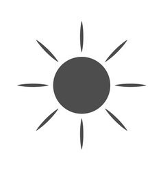 Sun icon light sunbeams gray vector