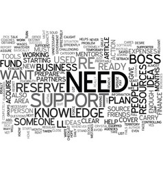 Are you ready to be your own boss text word cloud vector