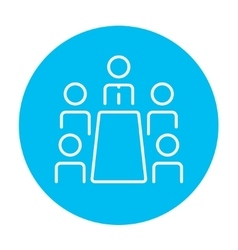Business meeting in the office line icon vector image vector image