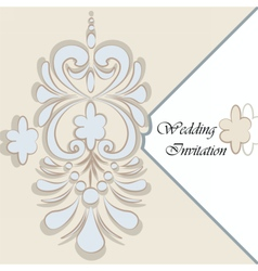 Classic luxury invitation card vector