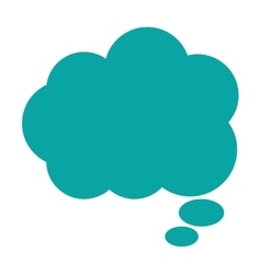 Cloud conversation bubble icon vector