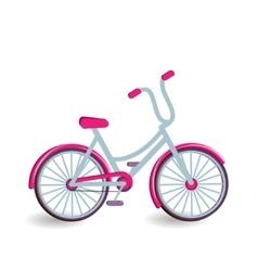 Color bicycle icon vector