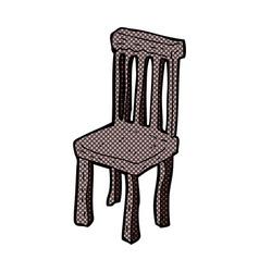 Comic cartoon old wooden chair vector