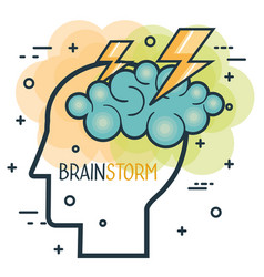 Creative profile and brain vector