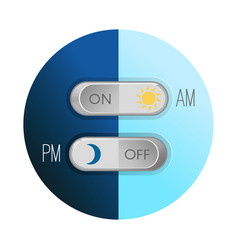 day and night concept circular image on vector image vector image