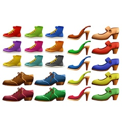 Different designs of shoes vector image