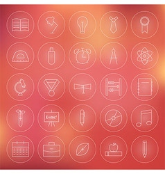 Education and Science Circle Line Icons Set vector image vector image