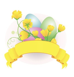 eggs scroll vector image vector image