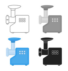 Electical meat grinder icon in cartoon style vector