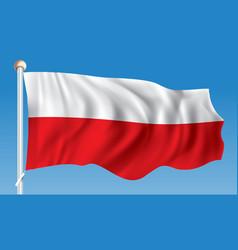 Flag of poland vector