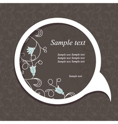 floral speech bubble dark4 vector image