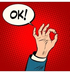 Hand OK gesture business concept vector image vector image