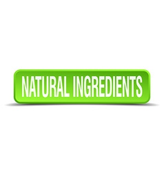 natural ingredients green 3d realistic square vector image vector image