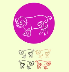 Pig decor vector