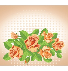 roses card fine vector image vector image