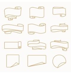 Set of vintage badge vector image vector image